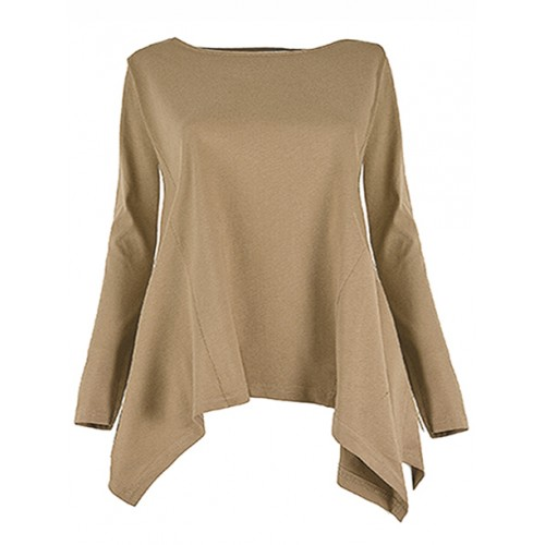 Bluzka Rogi Plus Size Beż