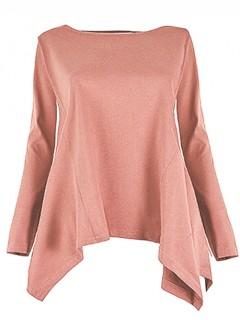 Bluzka Rogi Plus Size Brudny Róż