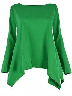 Bluzka Rogi Plus Size Zielona