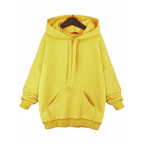 Bluza Basic Plus Size Mustard