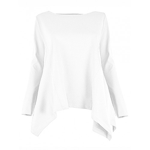 Bluzka Rogi Plus Size Biała