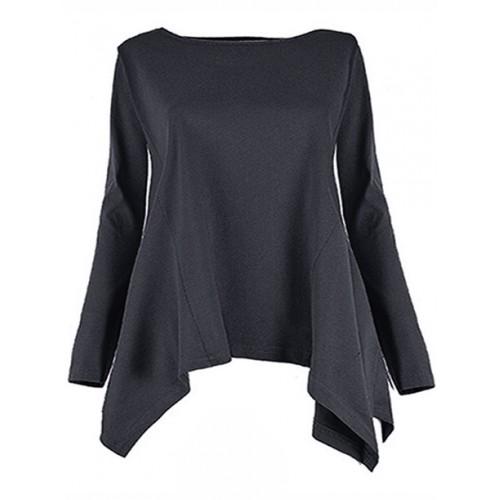 Bluzka Rogi Plus Size Granatowa