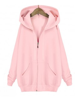Bluza Basic Zip Pudrowa