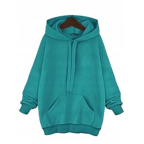 Bluza Basic Plus Size Azure