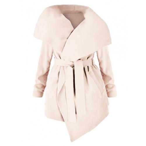Płaszcz Flausz Plus Size Light Beige