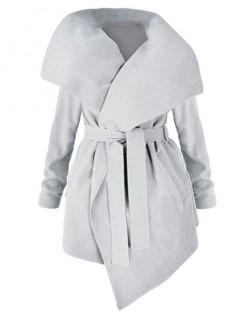 Płaszcz Flausz Plus Size Grey