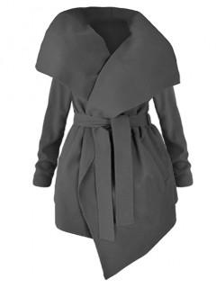 Płaszcz Flausz Plus Size Black