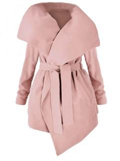 Płaszcz Flausz Plus Size Blush