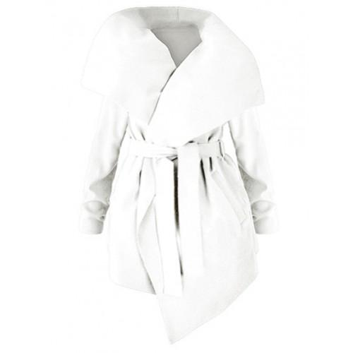 Płaszcz Flausz Plus Size Vanilla