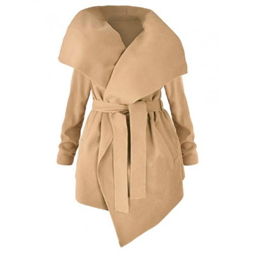 Płaszcz Flausz Plus Size Carmel