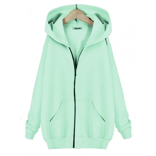 Bluza Basic Zip Mint