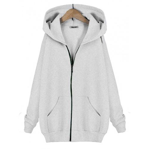 Bluza Basic Zip Melange