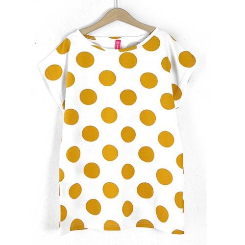 Bluzka Grochy Mustard