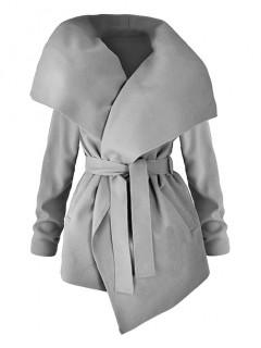 Płaszcz Flausz Wrap Grey