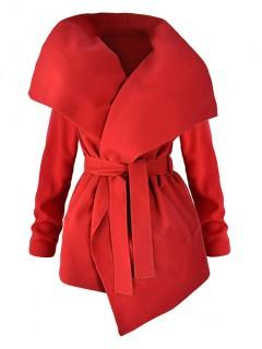 Płaszcz Flausz Wrap Red