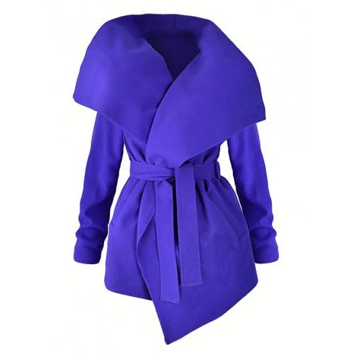 Płaszcz Flausz Wrap Ultramarine