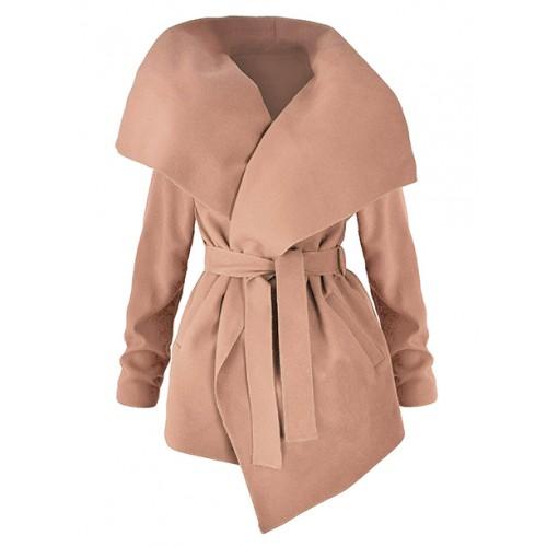 Płaszcz Flausz Wrap Carmel