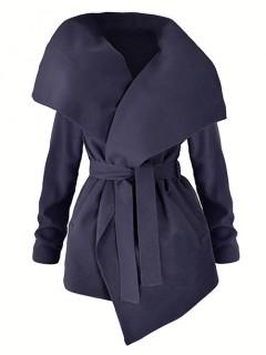 Płaszcz Flausz Wrap Navy Blue