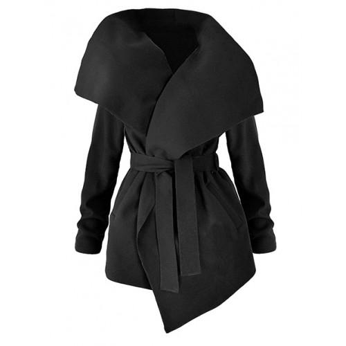 Płaszcz Flausz Wrap Black