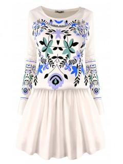 Sukienka Folk Vanilla