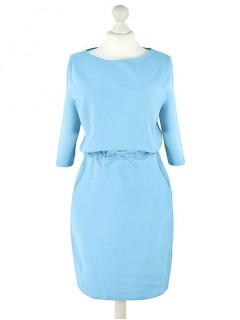 Sukienka Troczek Niebieska