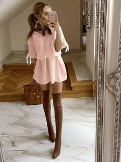 Sukienka Tasiemka Pastel Pink