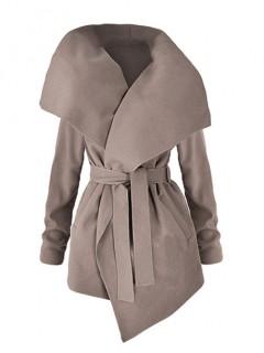 Płaszcz Flausz Wrap Stone Beige
