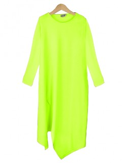 Bluzka Asymmetric Neon Yellow