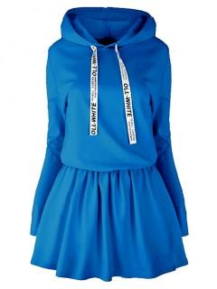 Sukienka Oll White Niebieska