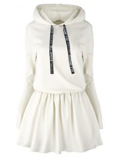 Sukienka Oll White Waniliowa