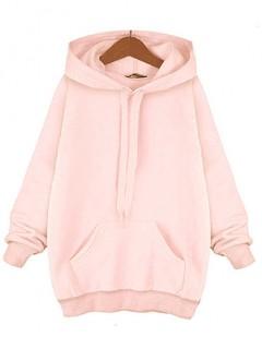 Bluza Basic Plus Size Pastel Pink