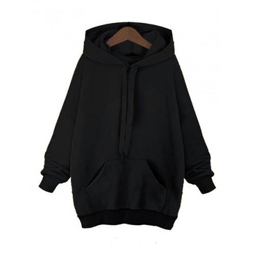 Bluza Basic Plus Size Black