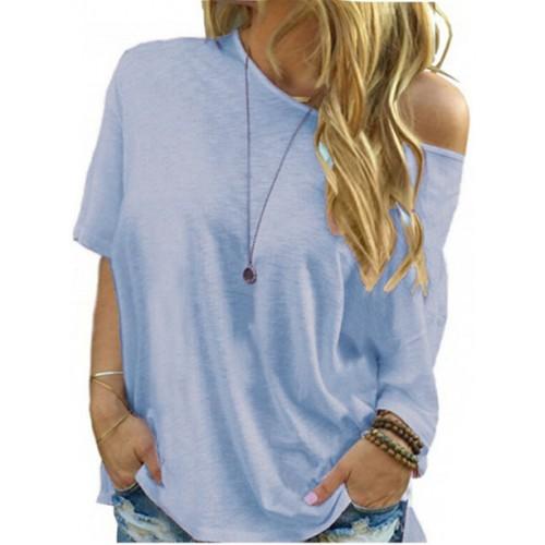 Bluzka Plus Size Błękitna