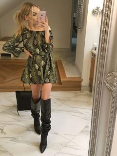 Sukienka Toscana Oliwkowa