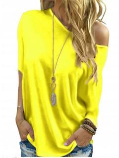 Bluzka Over Neon Żółty