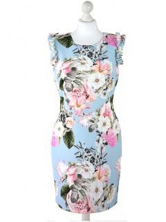 Sukienka Flowers Pastel Blue