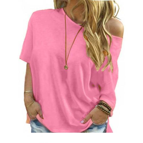 Bluzka Plus Size Różowa