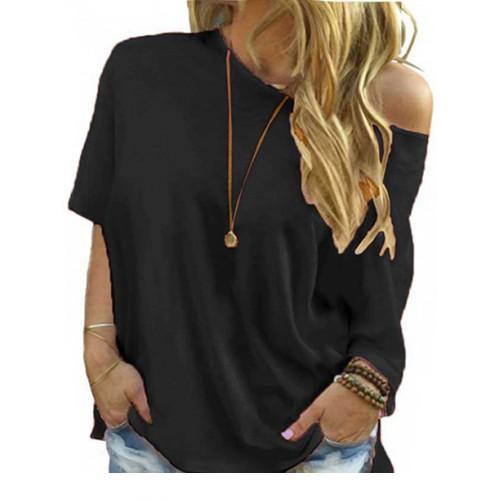 Bluzka Plus Size Czarna