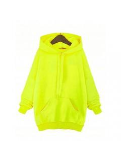 Bluza Troczek Basic Żółty Neon