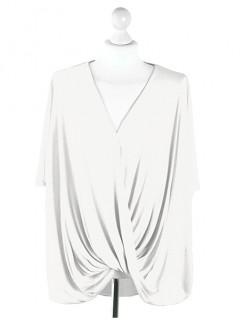 Bluzka Wrap Plus Size White