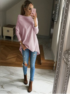 Bluza Over Pastel Pink