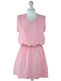 Sukienka Lniana Pastel Pink