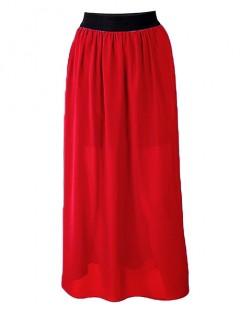 Spódnica Maxi Czerwona