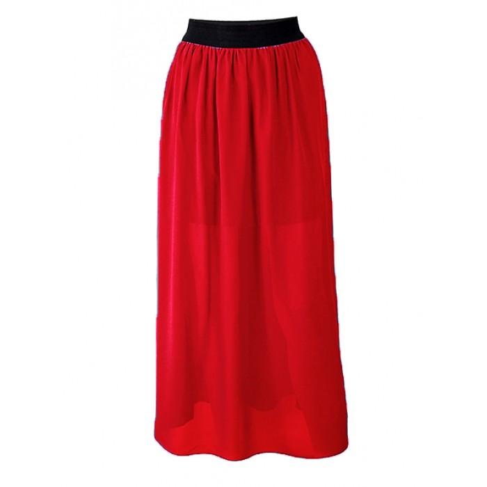 Spódnica Maxi Czerwona Damskie   Sklep Odzieżowy Online Awanti