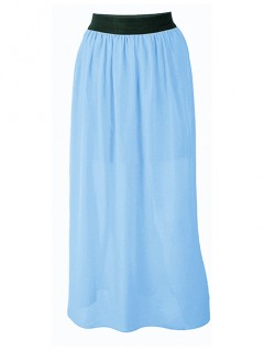 Spódnica Maxi Błękitna