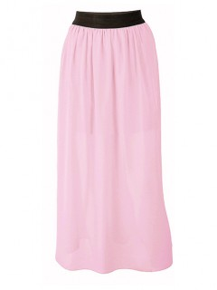 Spódnica Maxi Pastelowy Róż