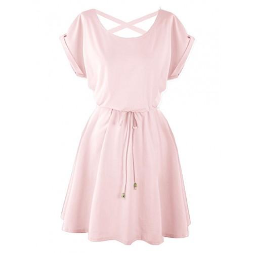 Sukienka Strapsy Różowa