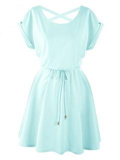 Sukienka Strapsy Błękitna