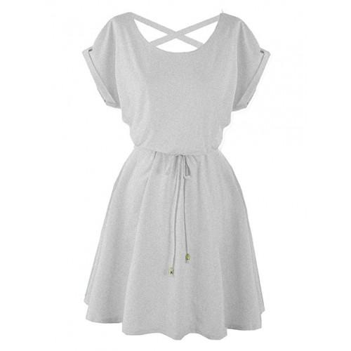Sukienka Strapsy Szara