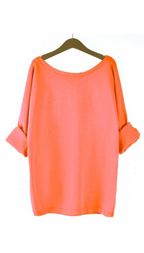 Bluzka Obustronny V-NECK Neon Orange